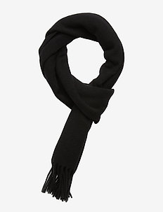 Champ Solid Scarf-Original Woo - BLACK