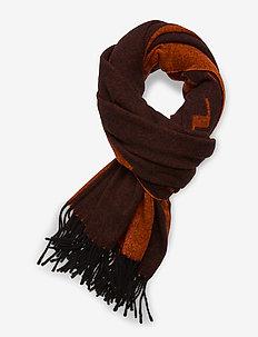 Frame Logo Scarf-Jacquard Wool - sjaals - black