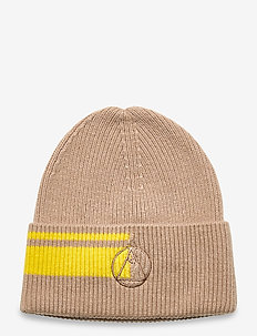 Logo Beanie-Winter Knit - OXFORD TAN