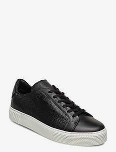 Signature Leather Sneaker - baskets basses - black