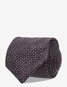 Lalle Jacquard Tie - ties - mid blue