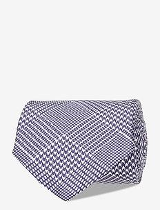 Lalle Printed Check Tie - ties - jl navy
