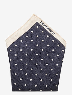28 Pocket Square Printed Dot - lommetørklær - jl navy