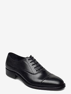 Hopper Leather Oxford Shoe - schnürschuhe - black