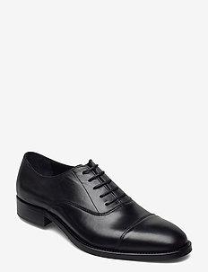 Hopper Leather Oxford Shoe - schnürschuhe - black
