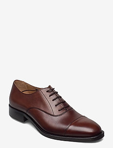 Hopper Leather Oxford Shoe - schnürschuhe - brown