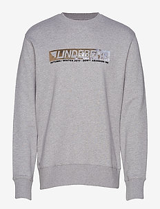 Hurl c-neck-Ring Loop Sweat - LT GREY MELANGE
