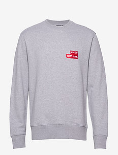 Hurl c-neck-Ring Loop Sweat - sweats - light grey melange