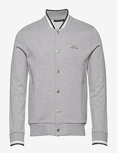 Jasper-Ring Loop Sweat - bomber jakke - grey melange
