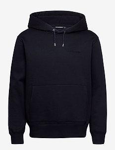Chip Pocket Hoodie - basic sweatshirts - jl navy