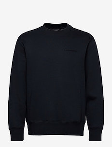 Chip Crew Neck Sweatshirt - basic sweatshirts - jl navy