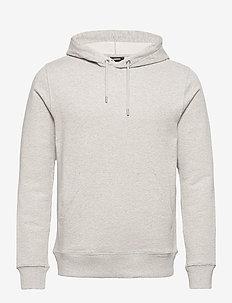 Throw Clean Sweat Hoodie - basic-sweatshirts - grey melange