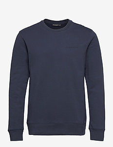 Throw C-neck Sweatshirt - basic-sweatshirts - jl navy