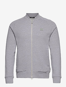 Josef Zip Sweat Shirt - basic-sweatshirts - grey melange