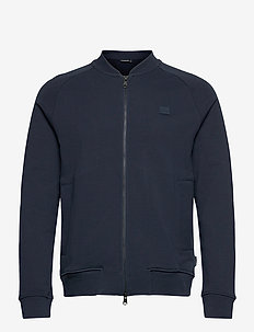 Josef Zip Sweat Shirt - basic-sweatshirts - jl navy