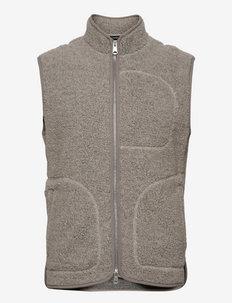 Duncan Wool Fleece Vest - liivit - grey melange