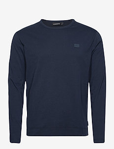 Charlie Long Sleeve T-shirt - basic t-shirts - jl navy