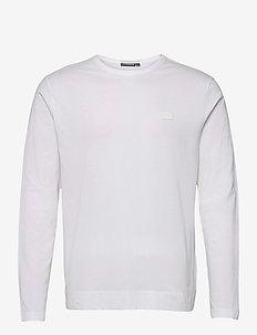 Charlie Long Sleeve T-shirt - basic t-shirts - white
