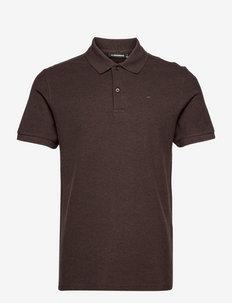 Troy Polo Shirt Seasonal Pique - polos à manches courtes - umber brown