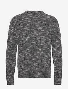Ibbe-Fuzzy alpaca - tricots basiques - dark grey