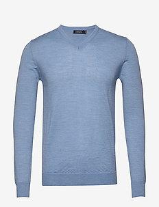 Newman V-neck-Perfect Merino - DUSK BLUE