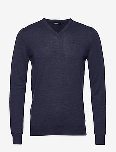 Newman V-neck-Perfect Merino - basic gebreide truien - jl navy