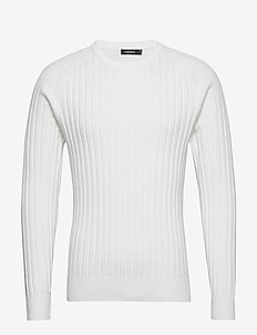 Jace-Contrast knit - perusneuleet - cloud white