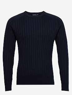 Jace-Contrast knit - basic strik - jl navy