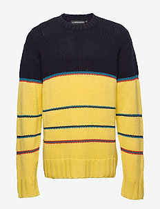 FS Stripe Chunky knit-Dry Wool - JL NAVY