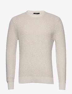 Nestor-Cotton structure - basic knitwear - cloud grey