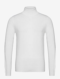 Lyd Merino Turtleneck Sweater - tricots basiques - cloud white