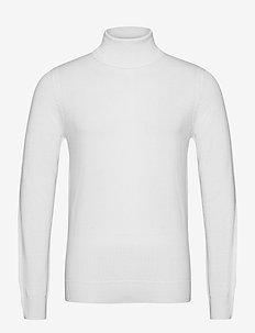 Lyd Merino Turtleneck Sweater - stickade basplagg - cloud white