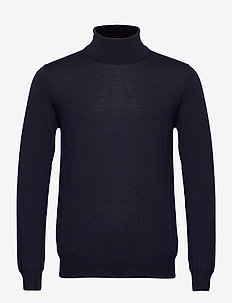 Lyd Merino Turtleneck Sweater - tricots basiques - jl navy