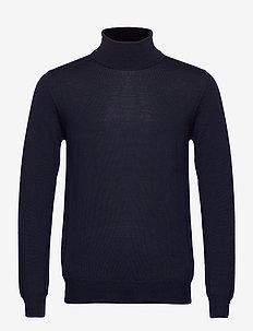 Lyd Merino Turtleneck Sweater - basic knitwear - jl navy