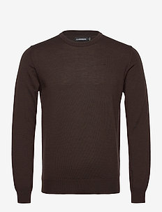 Lyle Merino Crew Neck Sweater - rund hals - dark brown