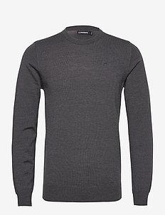 Lyle Merino Crew Neck Sweater - pulls col rond - dark grey melange