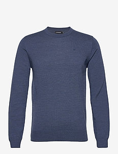 Lyle Merino Crew Neck Sweater - pulls col rond - egyptian blue melange