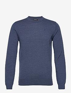 Lyle Merino Crew Neck Sweater - rundhalsad - egyptian blue melange