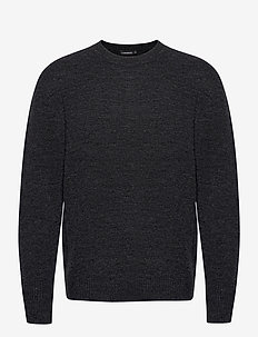 Isaac Crew Neck Sweater - pulls col rond - dark grey melange