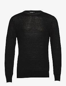 Lyle Linen Sweater - podstawowa odzież z dzianiny - black