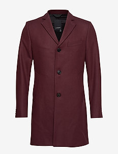 WOLGER-Compact Melton - wool coats - dark mocca