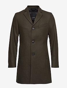WOLGER-Compact Melton - wełniane płaszcze - forest green