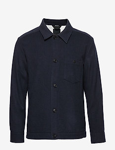 Dolph-Flat Wool - chemises basiques - jl navy