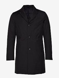 WOLGER-Tech - wełniane płaszcze - black