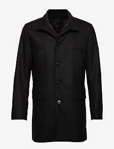 KALI-Compact Melton - wełniane płaszcze - black