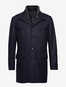 KALI-Compact Melton - wool coats - jl navy