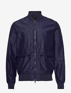 Marty-Silk Nylon - bomber jackets - mid blue