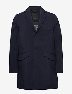 Moore-3L Mech Stretch - trenchcoats - jl navy