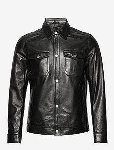 Matt-Non Grain - vestes en cuir - black