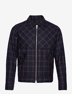 Allan-Mods Check - overshirts - mid blue